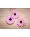 Decoratie bloemen roze voor klamboes 12 stuks