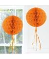 Decoratie bol oranje 30 cm
