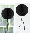 Decoratie bol zwart 30 cm