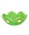Decoratie gras mandje groen bloem