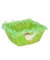 Decoratie gras mandje groen vierkant
