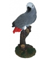 Decoratie grijze papegaai 20 cm