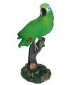 Decoratie groene papegaai 20 cm