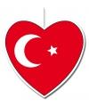 Decoratie hart turkije 30 cm