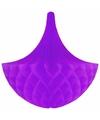 Decoratie kroonluchter paars 35 cm