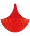 Decoratie kroonluchter rood 35 cm