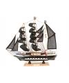 Decoratie model piratenschip 34 cm