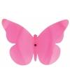 Decoratie muur vlinder roze 25 cm