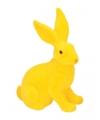 Decoratie paashaas geel 23 cm
