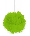 Decoratie pompom lime groen