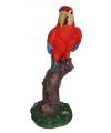 Decoratie rode papegaai 32 cm