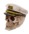 Decoratie schedel kapitein 16 cm