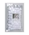 Decoratie sneeuwballen 3 cm 100 stuks