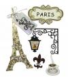 Decoratie stickers parijs 5 stuks