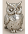 Decoratie uil zilver 16 cm model 1
