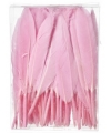 Decoratie veren roze 13 cm