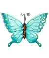 Decoratie vlinder blauw 22 cm