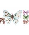 Decoratie vlinder metaal 32 x 25 cm