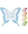 Decoratie vlinder metaal 39 x 34 cm