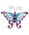 Decoratie vlinder paars blauw 41 cm