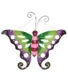 Decoratie vlinder paars groen 41 cm