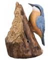 Decoratie vogel boomklever 12 5 cm