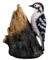 Decoratie vogel grote bonte specht 12 5 cm