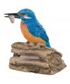 Decoratie vogel ijsvogel 12 5 cm
