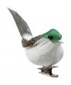 Decoratie vogels groen 3 stuks