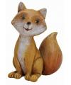 Decoratie vos zittend 11 cm