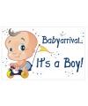 Decoratiebord geboorte jongen 35 x 55 cm