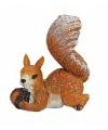 Decoratief eekhoorn beeldje 7 cm type 2