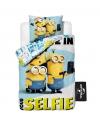 Dekbedovertrek set minions selfie 140 x 200 cm
