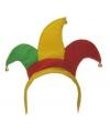 Diadeem harlekijn rood geel groen