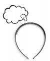 Diadeem met denk wolkje