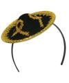 Diadeem met mini sombrero