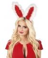 Diadeem met rode bunny oren