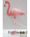 Dierenbeeld flamingo 65 cm