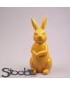 Dierenbeeld haas konijn geel 30 cm