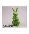 Dierenbeeld haas konijn groen 30 cm