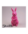 Dierenbeeld haas konijn roze 30 cm