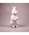 Dierenbeeld haas konijn wit 30 cm