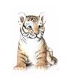 Dierenbeeldje tijger zittend 24 cm
