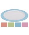 Diner bord plat melamine wit met roze rand 26 cm