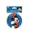 Disney ronde mickey uitnodigingen set 5 stuks