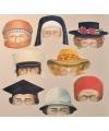 Diverse hoeden maskers 8 stuks