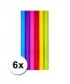 Diverse kleuren kadopapier 6 rollen