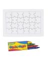 Diy puzzel set met krijtjes 24 stukjes