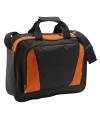 Documenten tas oranje zwart 40 cm