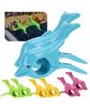 Dolfijnen handdoeken knijpers groen 2 stuks